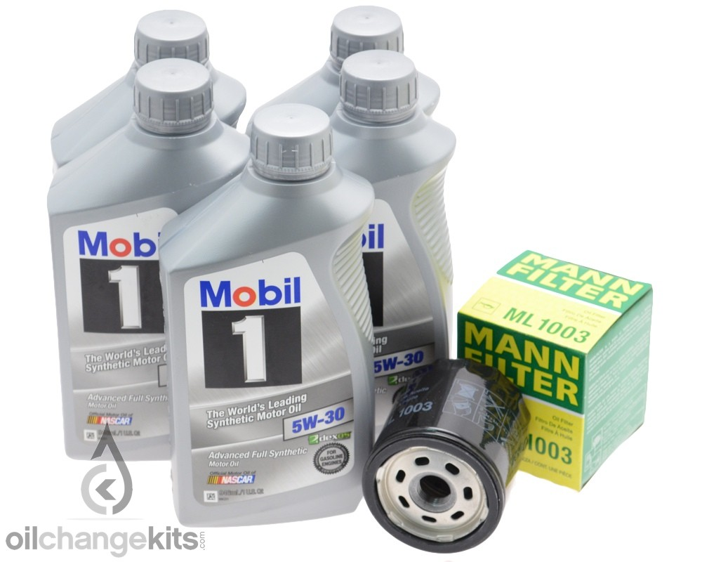 5 Quarts of Mobil 1 5w30 & MANN Oil Filter